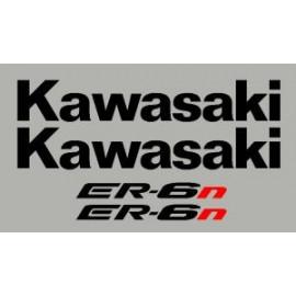 Pegatinas para KAWASAKI ER6n ou ER6f, 09-11