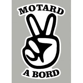 Sticker motard à bord