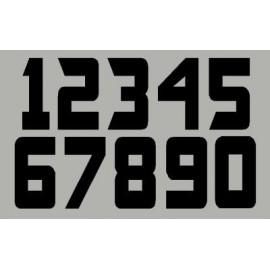 3 Números de la raza 16 cm oficiales US