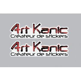 2 Logo Art Kanic pegatinas