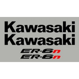 Stickers kit KAWASAKI ER6n or ER6f 09/11