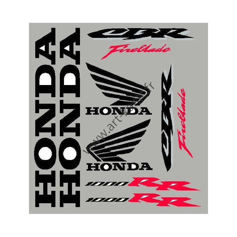 stickers autocollants pour honda cbr 1000 rr. Black Bedroom Furniture Sets. Home Design Ideas