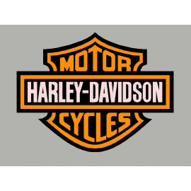 2 Sticker autocollant Harley Davidson orange