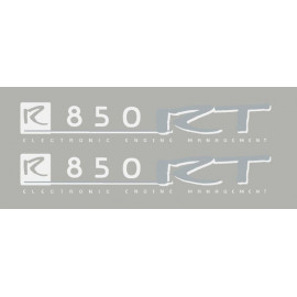 2 Stickers autocollants R850RT blanc/argent