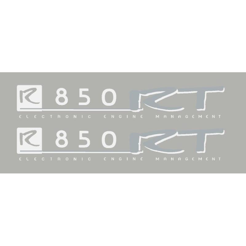 2 Pegatinas R850RT blanco/plata