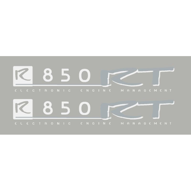 2 Stickers for R850RT white/silver