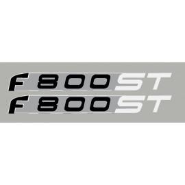 2 adesivi BMW F800ST bianco/argento