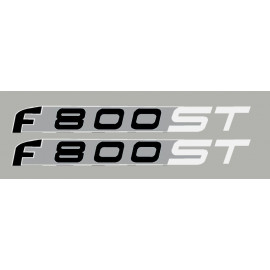 2 stickers for BMW F800ST white/silver