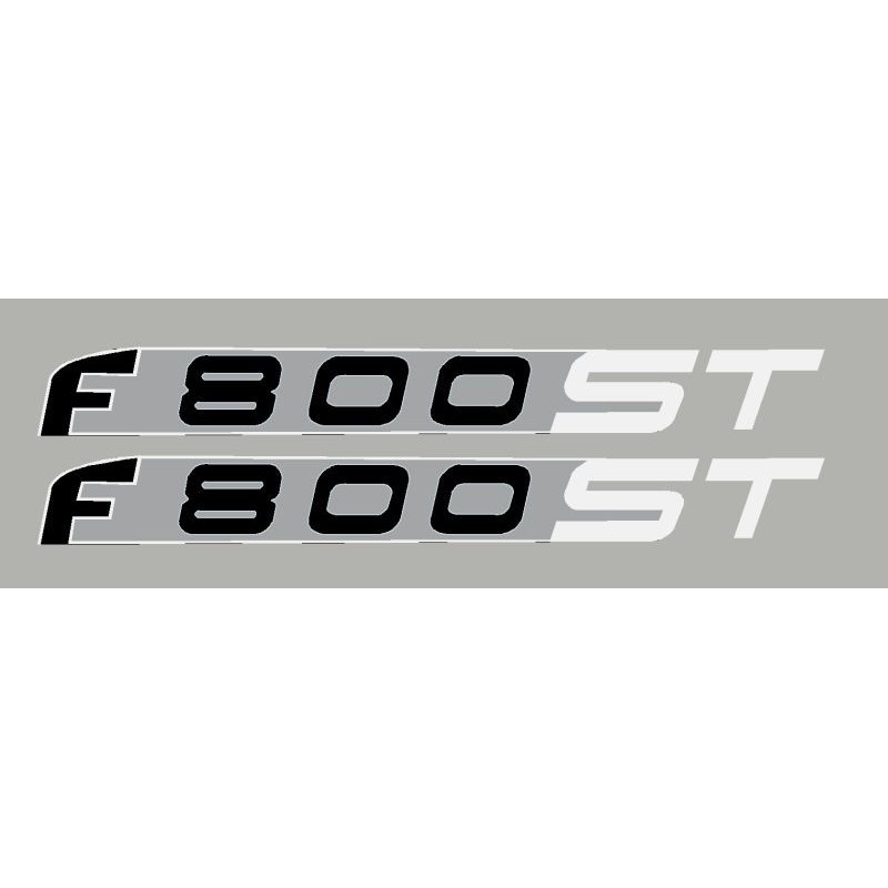 2 pegatinas para BMW F800ST blanco/prata