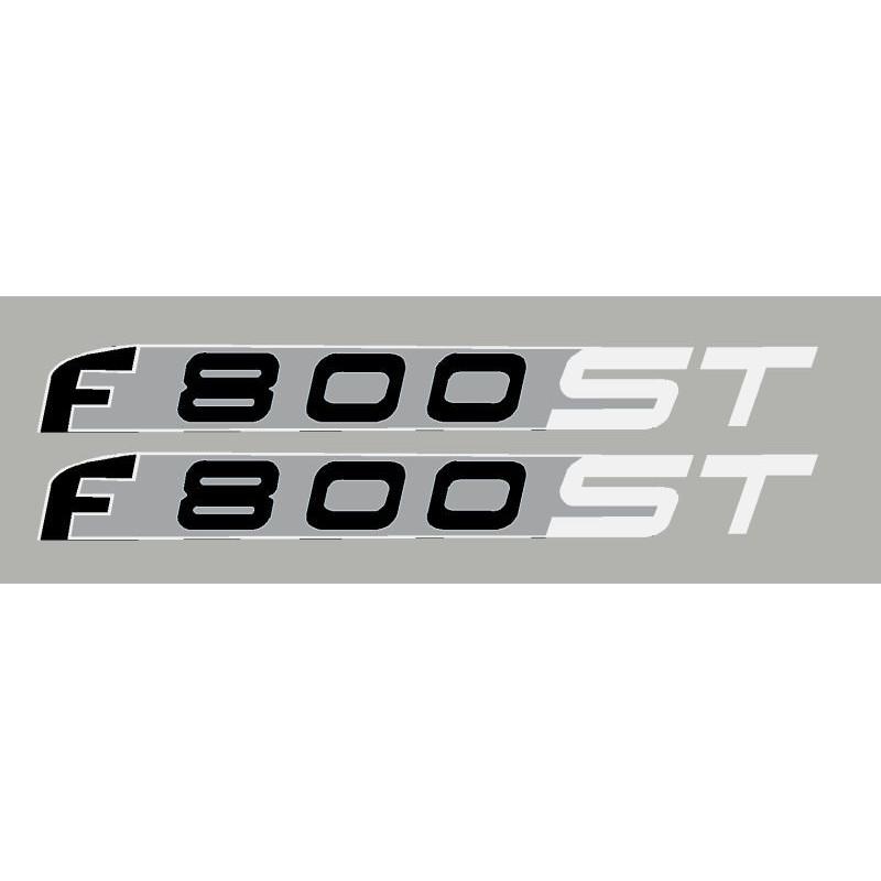 2 stickers pour BMW F800ST blanc/argent