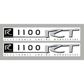 2 adesivi BMW R1100RT nero e argento