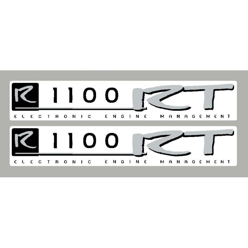 2 pegatinas para BMW R1100RT negro/plata