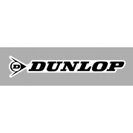 Pegatina logo sponsor Dunlop