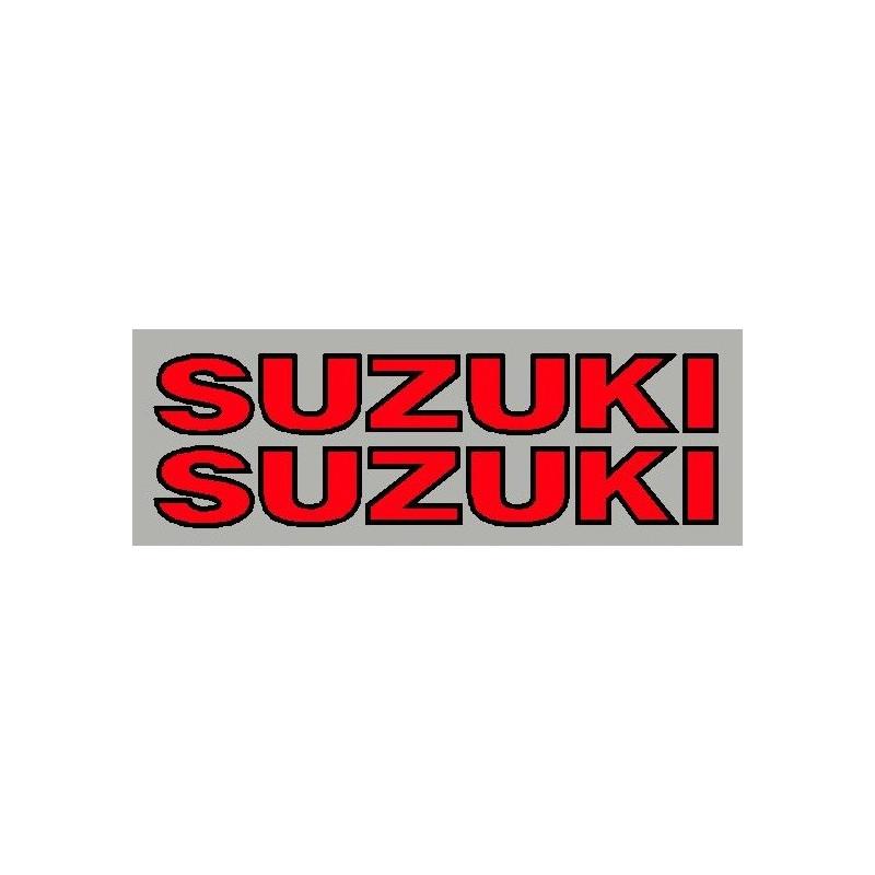 2 Autocollants Suzuki avec contour