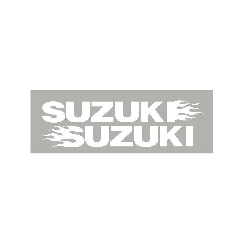 2 Autocollants Suzuki avec flaming