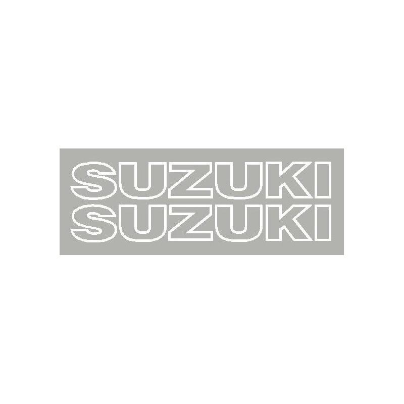 2 Autocollants Suzuki uniquement le contour