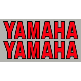 2 Autocollants Yamaha avec contour