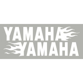 2 Autocollants Yamaha avec flaming