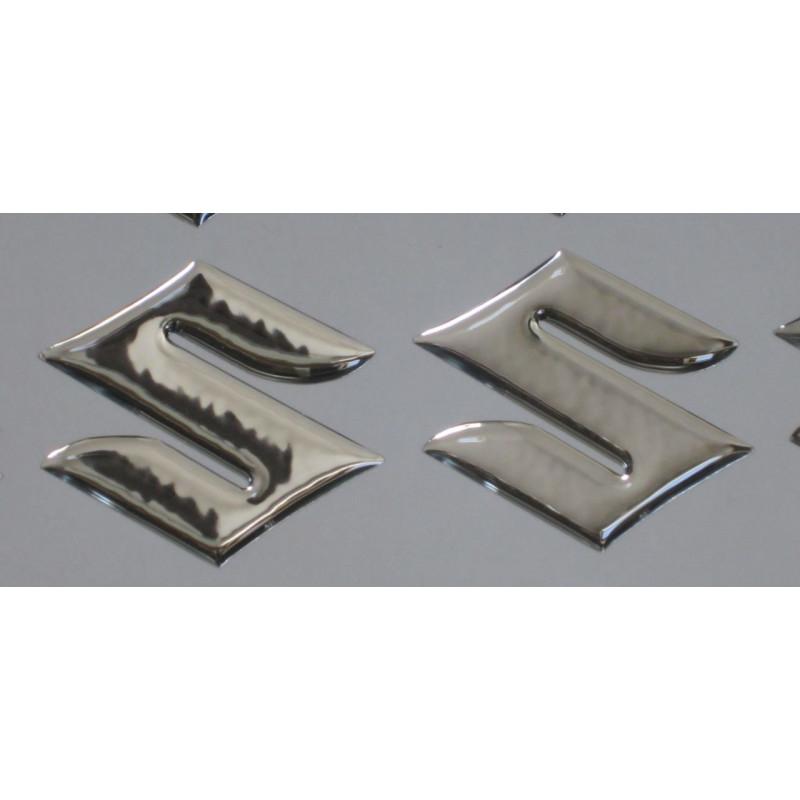 2 Pegatina adhesivos S de Suzuki en 3D