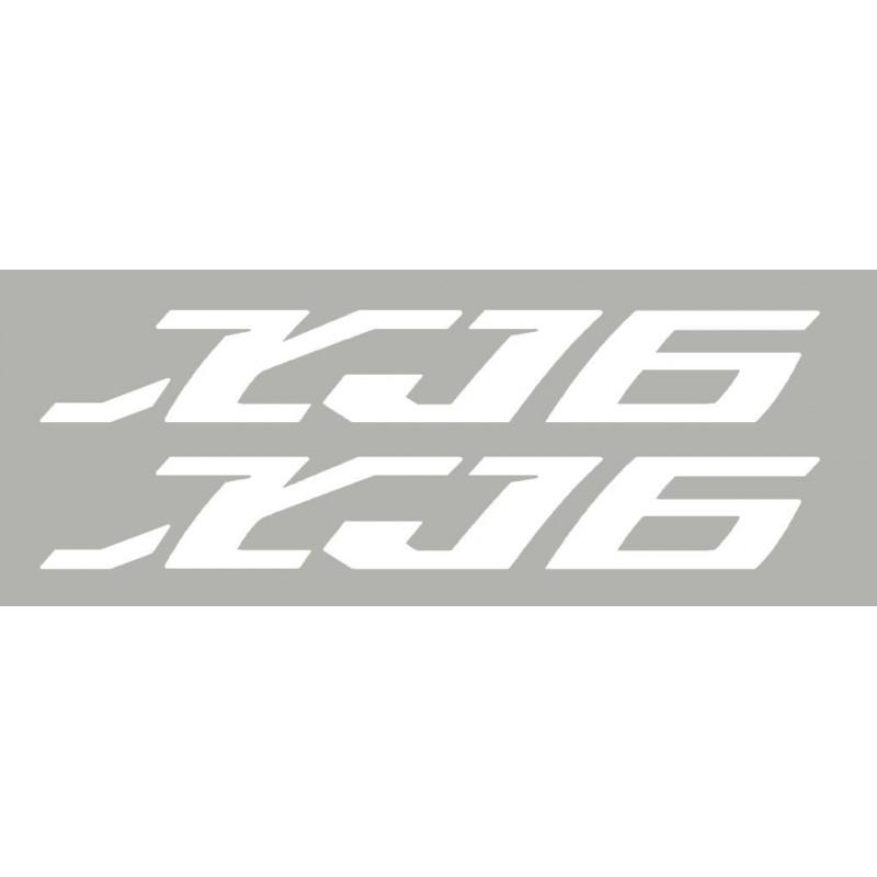 2 stickers autocollants XJ6