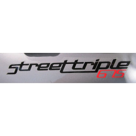 2 stickers autocollants Street Triple 675