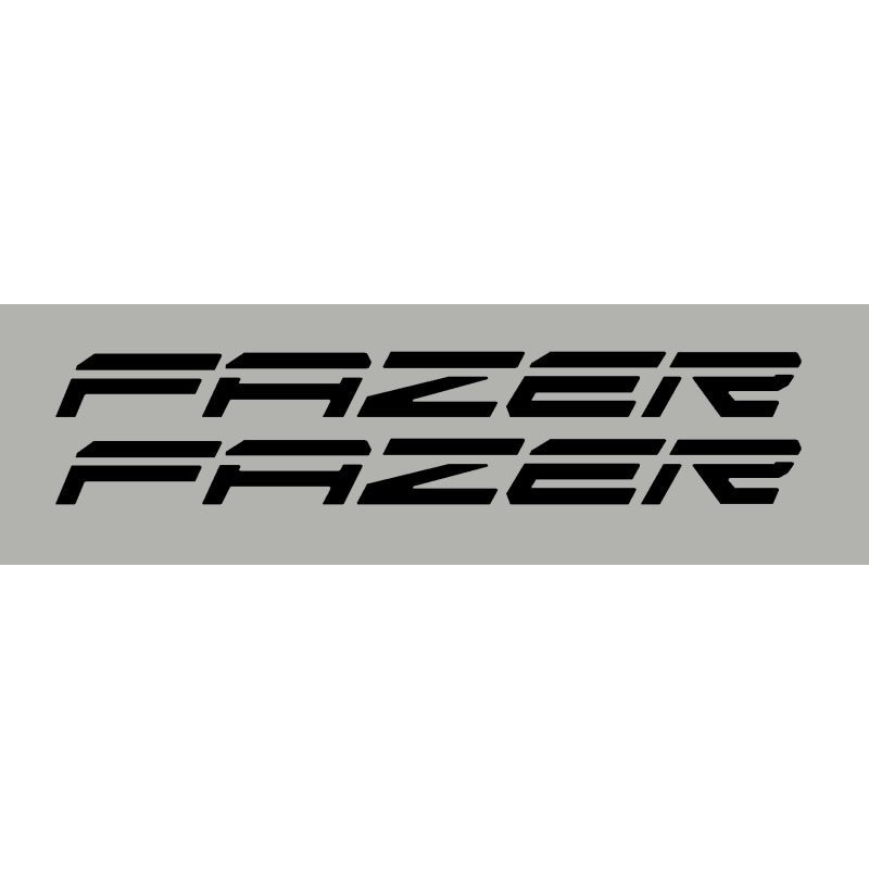 2 stickers autocollants FAZER