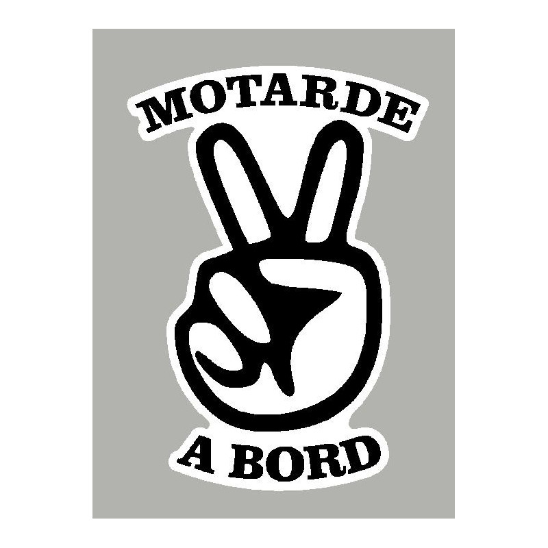 Sticker motarde à bord