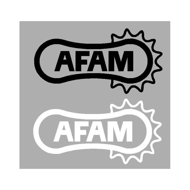 Sticker logo AFAM noir/blanc