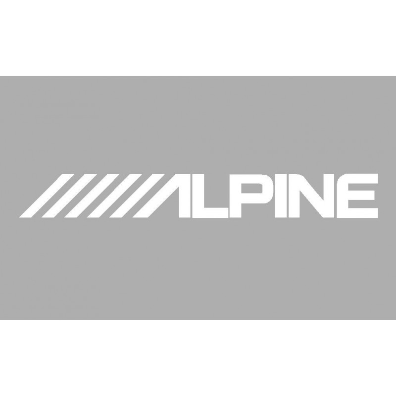 Sticker logo ALPINE