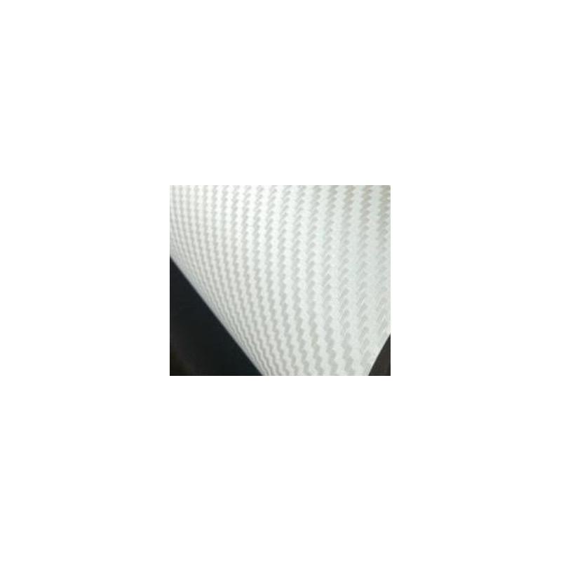 Vinyle pour covering carbone blanc texturé
