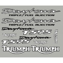 Adesivos Triumph Daytona T595 com contorno preto