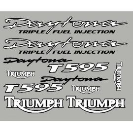 Kit sticker Triumph Daytona T595 avec contour noir