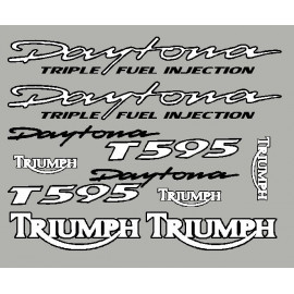 Sticker for Triumph Daytona T595 with black outline