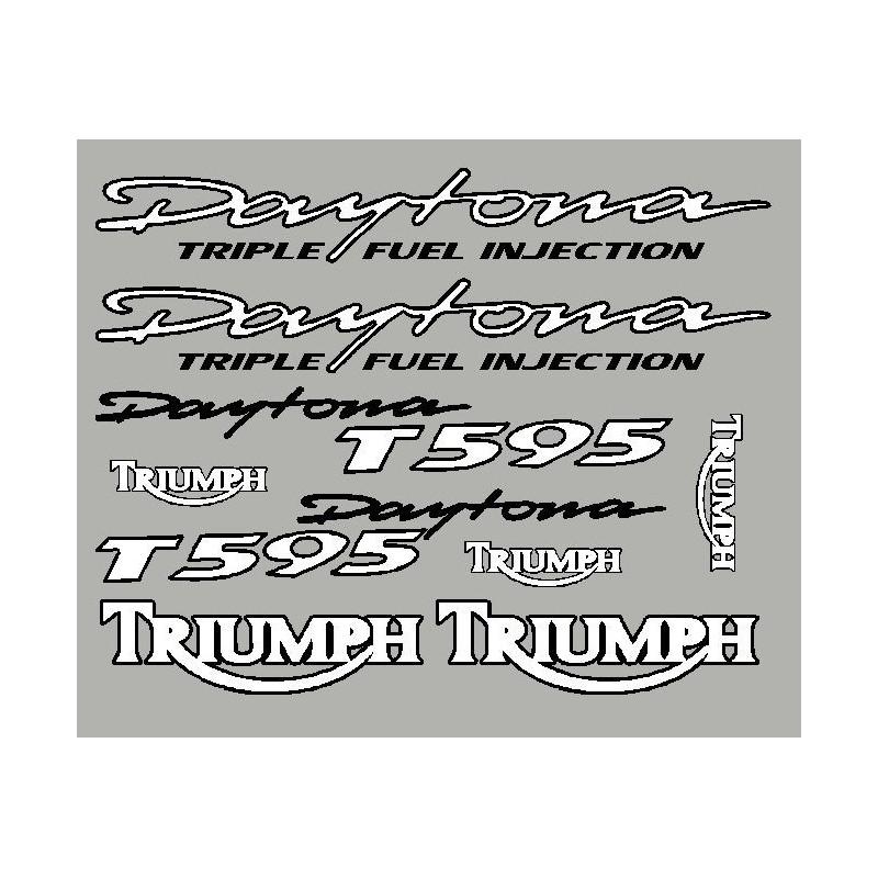 Adesivi Triumph Daytona T595 con contorno nero