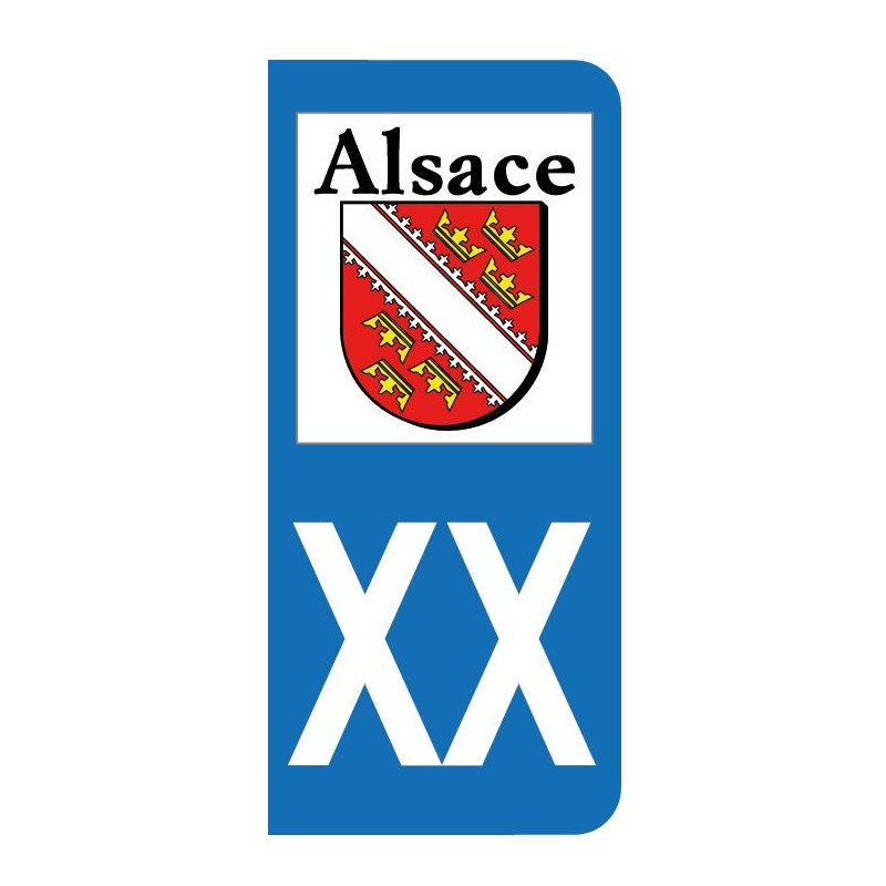 sticker du blason de l 39 alsace pour plaque d 39 immatriculation. Black Bedroom Furniture Sets. Home Design Ideas