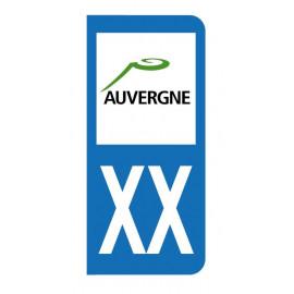 Autocollant blason Auvergne pour plaque d'immatriculation