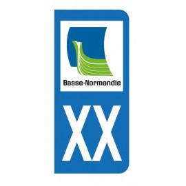 Autocollant blason Basse Normandie pour plaque d'immatriculation