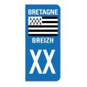 Autocollant blason Bretagne pour plaque d'immatriculation