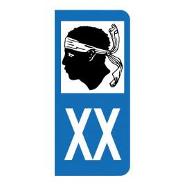 Autocollant blason Corse pour plaque d'immatriculation