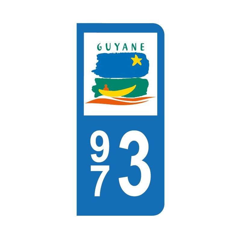 Autocollant blason Guyane pour plaque d'immatriculation