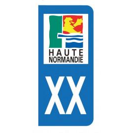 Autocollant blason Haute Normandie pour plaque d'immatriculation