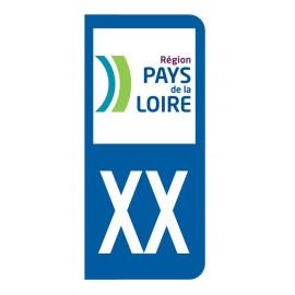 Autocollant blason Pays De La Loire pour plaque d'immatriculation