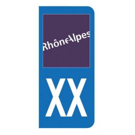Autocollant blason Rhones Alpes pour plaque d'immatriculation