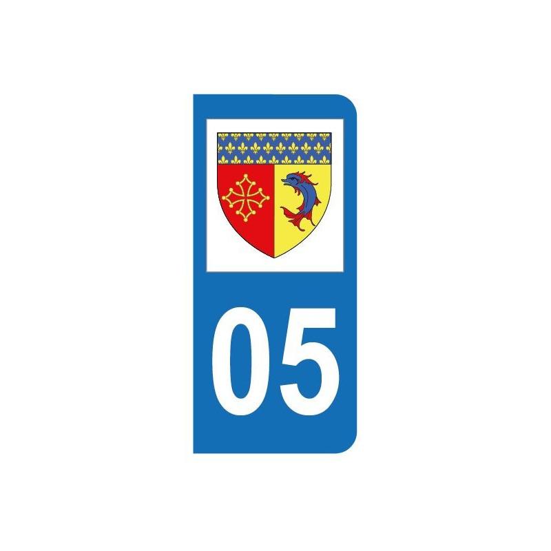 Autocollant blason 05 Hautes-Alpes pour plaque d'immatriculation