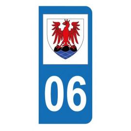 Autocollant blason 06 Alpes-Maritimes pour plaque d'immatriculation