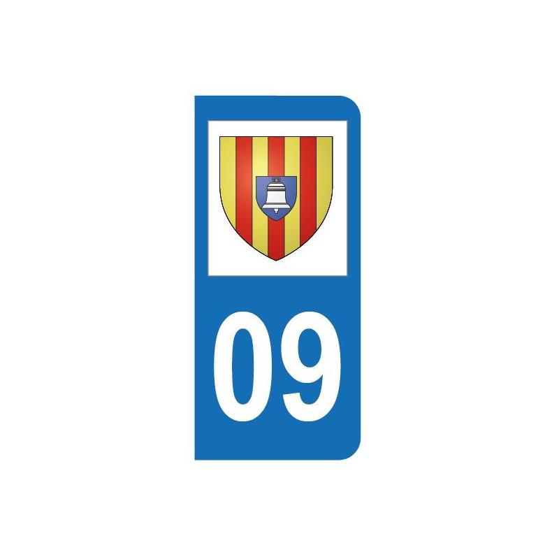 Autocollant blason 09 Ariège pour plaque d'immatriculation