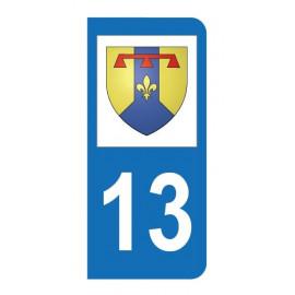 Autocollant blason 13 Bouches-du-Rhône pour plaque d'immatriculation