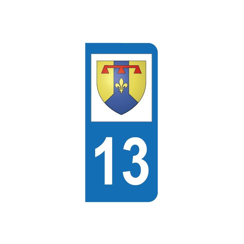 Sticker du blason du d partement 13 bouches du rh ne pour for Logo bouche du rhone