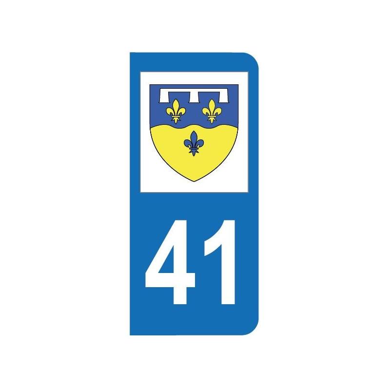 Autocollant blason 41 Loir-et-Cher pour plaque d'immatriculation