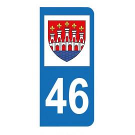 Autocollant blason 46 Lot pour plaque d'immatriculation
